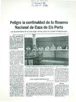 Peligra la continuidad de la Reserva Nacional de Caza de Els Ports.