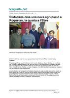 Ciutadans crea una nova agrupació a Roquetes, la quarta a l'Ebre