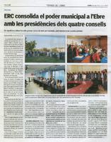 ERC consolida el poder municipal a l'Ebre amb les presidències dels quatre consells.