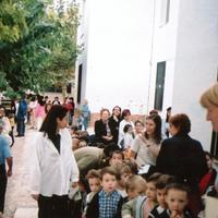 Inici del curs a l'Escola Mestre Marcel·lí Domingo 2001-2002