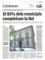 El 83% dels municipis compleixen la llei