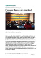Francesc Gas nou president del COPATE