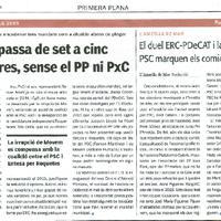 Roquetes passa de set a cinc candidatures, sense el PP ni PxC.