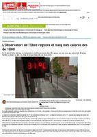 L'Observatori de l'Ebre registra el maig més calorós des de 1880