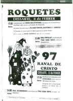 Saluda de Leonor Agramunt Lleixà, Regidora de l'Ajuntament de Roquetes, al President del CD Roquetenc i Programa d'actes del Carnestoltes 1997