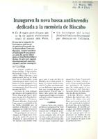 Inauguren la nova bassa antiincendis dedicada a la memòria de Riocabo