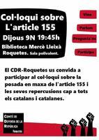 Col·loqui sobre l'article 155