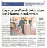 Roquetes crea l'escola Lo Canalero de música tradicional ebrenca