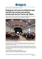 Esquerra convoca la militància per escollir les noves executives comarcals de les Terres de l'Ebre.