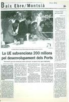 La UE subvenciona 200 milions pel desenvolupament dels Ports.