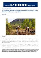 Els arqueòlegs de la URV excaven el jaciment dels Malladarets a Alfara de Carles i en destaquen la grandària.