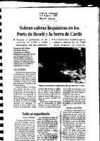 Sobran cabras hispánicas en los Ports de Beseit y la Serra de Cardó