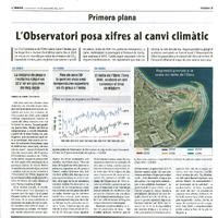 L'Observatori posa xifres al canvi climàtic