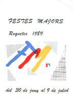 Programa de les Festes Majors de Roquetes 1989