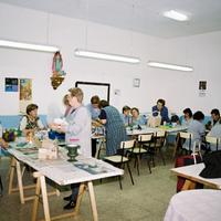 Taller de manualitat de l'Associació de Dones de Roquetes, any 2002
