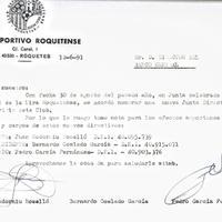 El CD Roquetenc informa el Banc Central dels canvis en la direcció del club