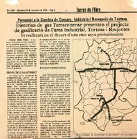 Directius de gas Tarraconense presenten el projecte de gasificació de l'àrea industrial, Tortosa i Roquetes: presentat a la Cambra de Comerç, Indústria i Navegació de Tortosa