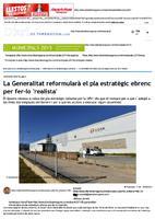 """La Generalitat reformularà el pla estratègic ebrenc per fer-ho """"realista"""""""