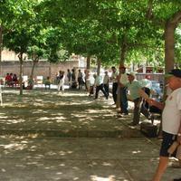 Tirada de birles al pati dels til·lers del Centre Cívic de Roquetes, any 2007