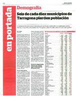 Seis de cada diez municipios de Tarragona pierden población.