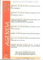 Agenda novembre 2007