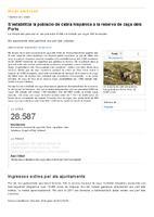 S'estabilitza la població de cabra hispànica a la reserva de caça  dels Ports
