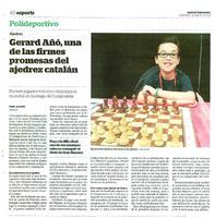Gerard Añó, una de las firmes promesas del ajedrez catalán.