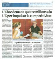 L'Ebre demana quatre milions a la UE per impulsar la competitivitat.