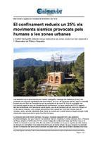 El confinament redueix un 25% els moviments sísmics provocats pels humans a les zones urbanes.
