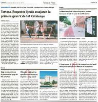 Tortosa, Roquetes i Jesús assajaran la primera gran V de tot Catalunya