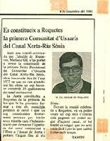Es constitueix a Roquetes la primera Comunitat d'usuaris del Canal Xerta-Riu Sénia