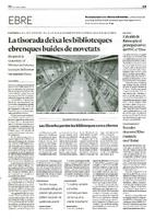 La tisorada deixa les biblioteques ebrenques buides de novetats