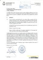 Comunicat de l'Ajuntament de Roquetes al CD Roquetenc en relació a la sol·licitut d'espais municipals, 2006