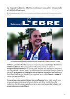 La roquetera Emma Martín continuarà una altra temporada a l'Alabés Glorioses.