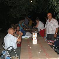 Sopar a la fresca de les Festes Majors de Roquetes, any 2007