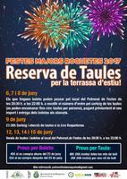 Festes Majors Roquetes 2017&lt;br /&gt;<br /> Reserva de Taules per la terrassa d&amp;#039;estiu!