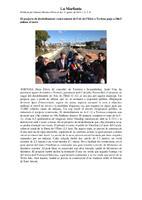 El projecte de desdoblament i soterrament de l'eix de l'Ebre a Tortosa puja a 106,5 milions d'euros