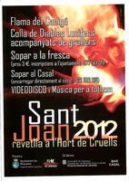 Revetlla de Sant Joan 2012 a l'Hort de Cruells