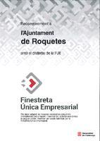 Reconeixement a l'Ajuntament de Roquetes amb el distintiu de la FUE.