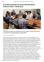 XI Premis comarcals de recerca Pare Romanyà i Federico Pastor
