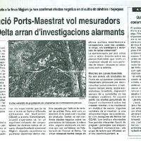 La Fundació Ports-Maestrat vol mesuradors d'ozó al Delta arran d'investigacions alarmants.