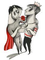 Il·lustració 'Feliç Sant Jordi Confinats' d'Ignasi Blanch, 2020
