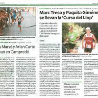"""Marc Treso y Paquita Giménez se llevan la """"Cursa del Llop"""""""