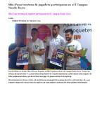 Més d'una trentena de jugadors participaran en el I Campus Nando Recio.