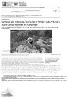 """Carreras por montaña, """"Cursa les II Torres"""": Albert Giné y Judit Lamas dominan en Campredó."""