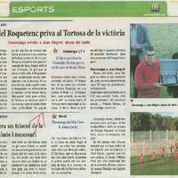 L'orgull del Roquetenc priva al Tortosa de la victòria