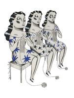 Il·lustració 'Teixim juntes' d'Ignasi Blanch per a Catorze.cat, 2020