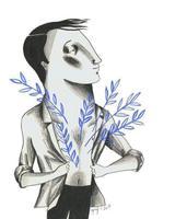 Il·lustració 'T'ofereixo la meva primavera' d'Ignasi Blanch per a Catorze.cat, 2020