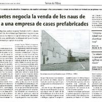 Roquetes negocia la venda de les naus de Lear a una empresa de cases prefabricades