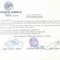 Comunicat del CD Roquetenc al Director del Banc Bilbao-Vizcaya, 1990